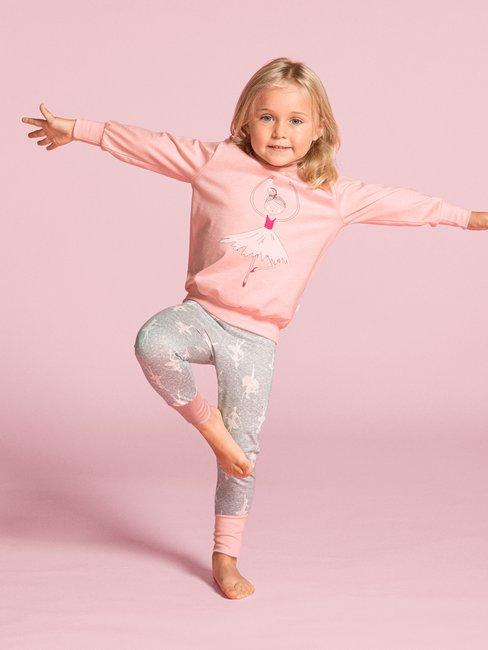 CALIDA Toddlers Ballet Kinder Bündchen-Pyjama