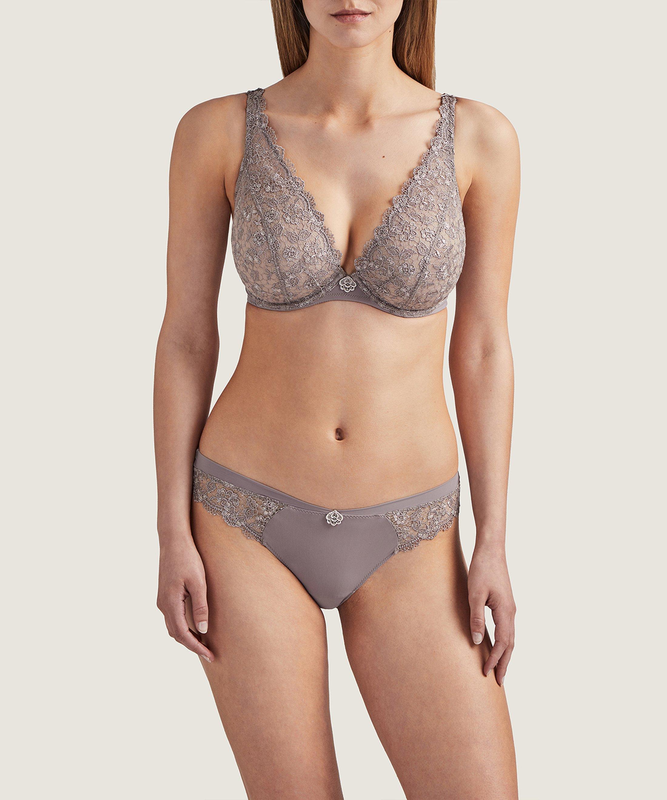 SECRET DE CHARME Comfort triangle plunge bra Mondaine Pink | Aubade