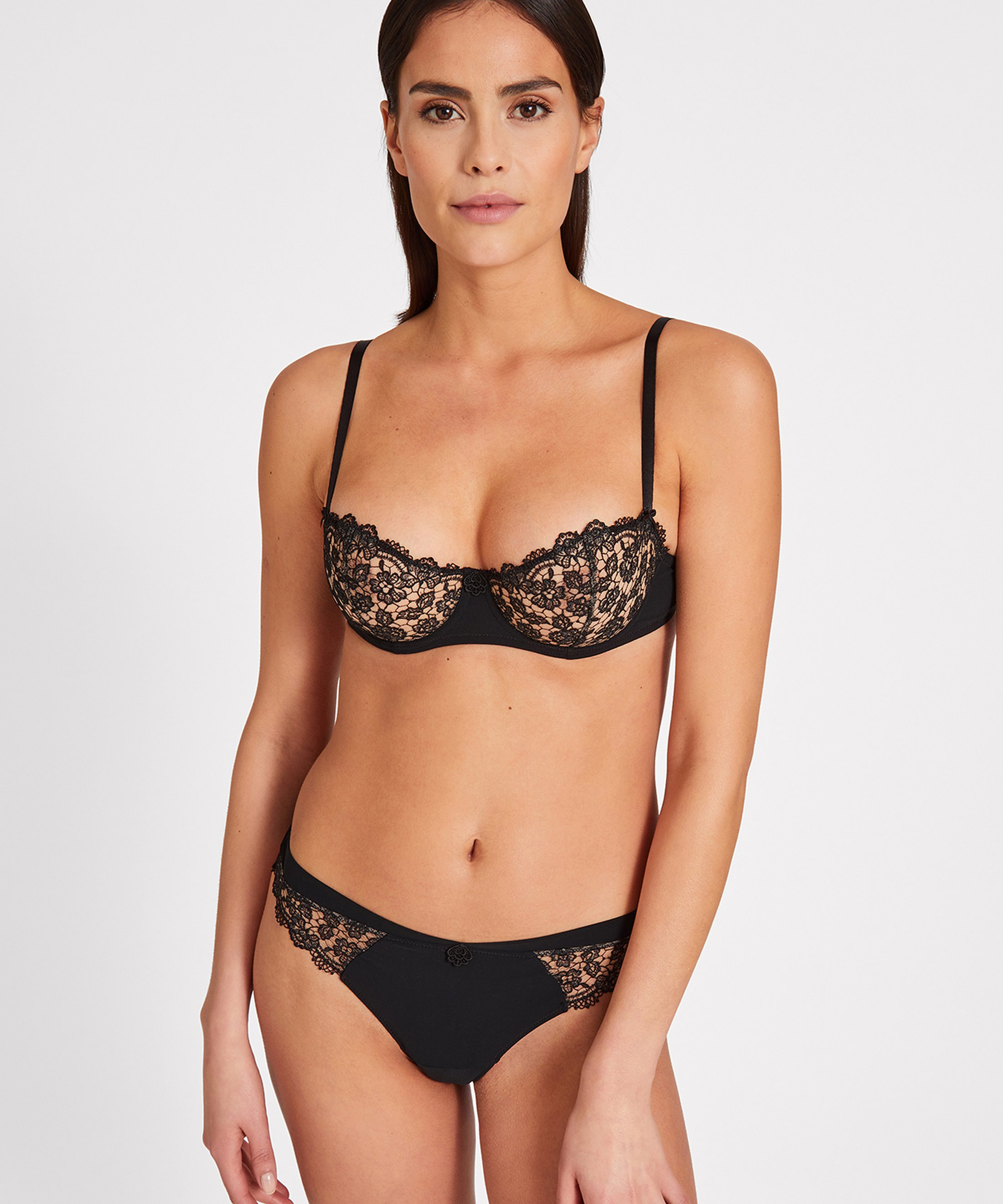 SECRET DE CHARME Tanga Black | Aubade