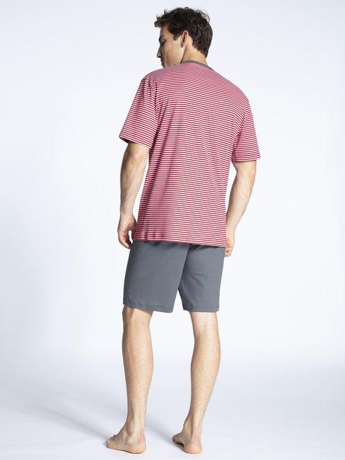 CALIDA Relax Streamline 3 Kurz-Pyjama mit Knopfleiste