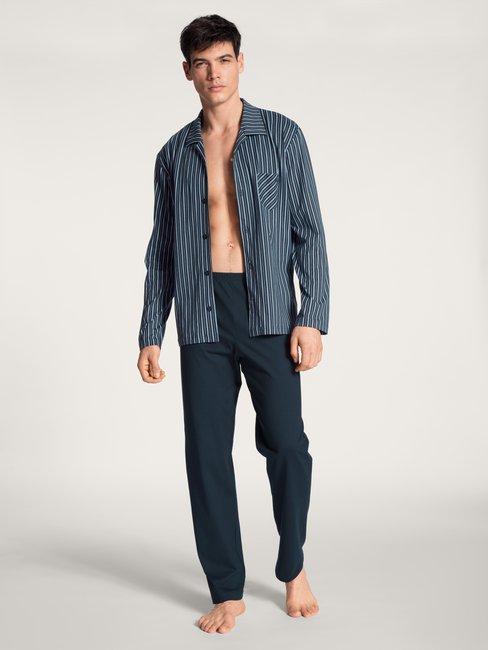CALIDA Relax Imprint Basic Pyjama boutonné sur toute la longueur
