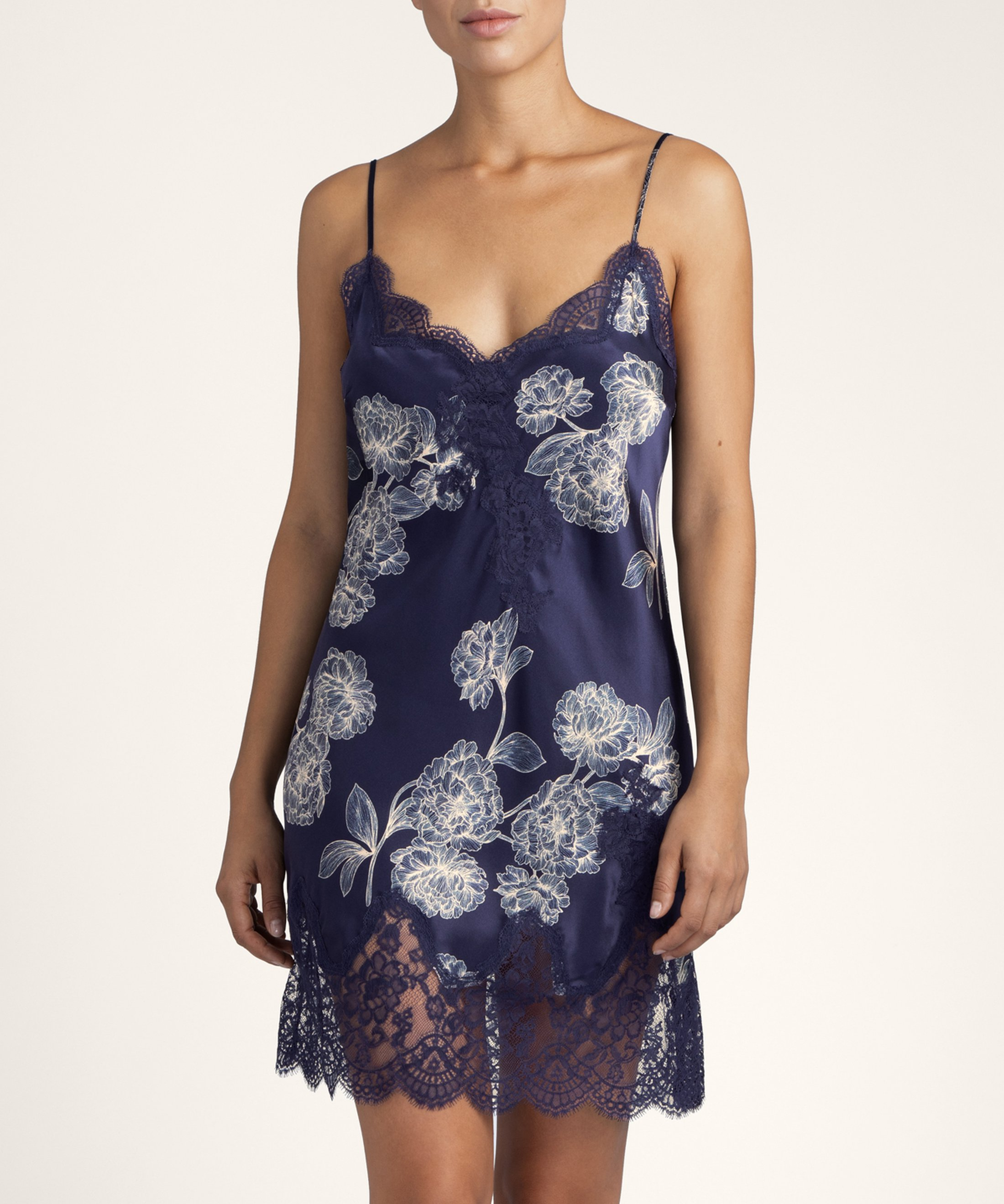 TOI MON AMOUR Silk nighty Night Blue | Aubade