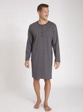 SCHIESSER Ebony Herren-Nachthemd mit Knopfleiste