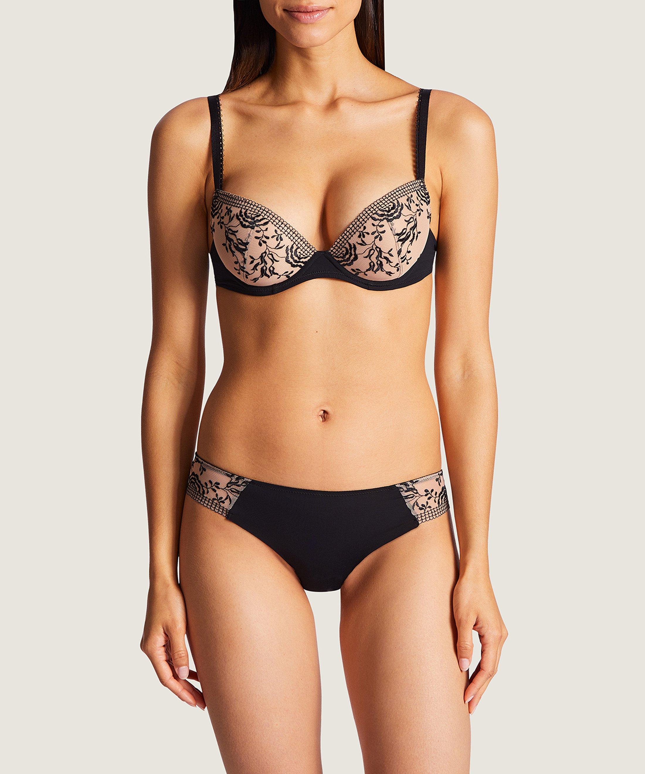 FLEUR DE PASSION Moulded push-up bra Black | Aubade