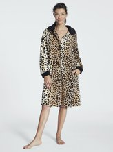 TAUBERT Leopard Bademantel, geknöpft