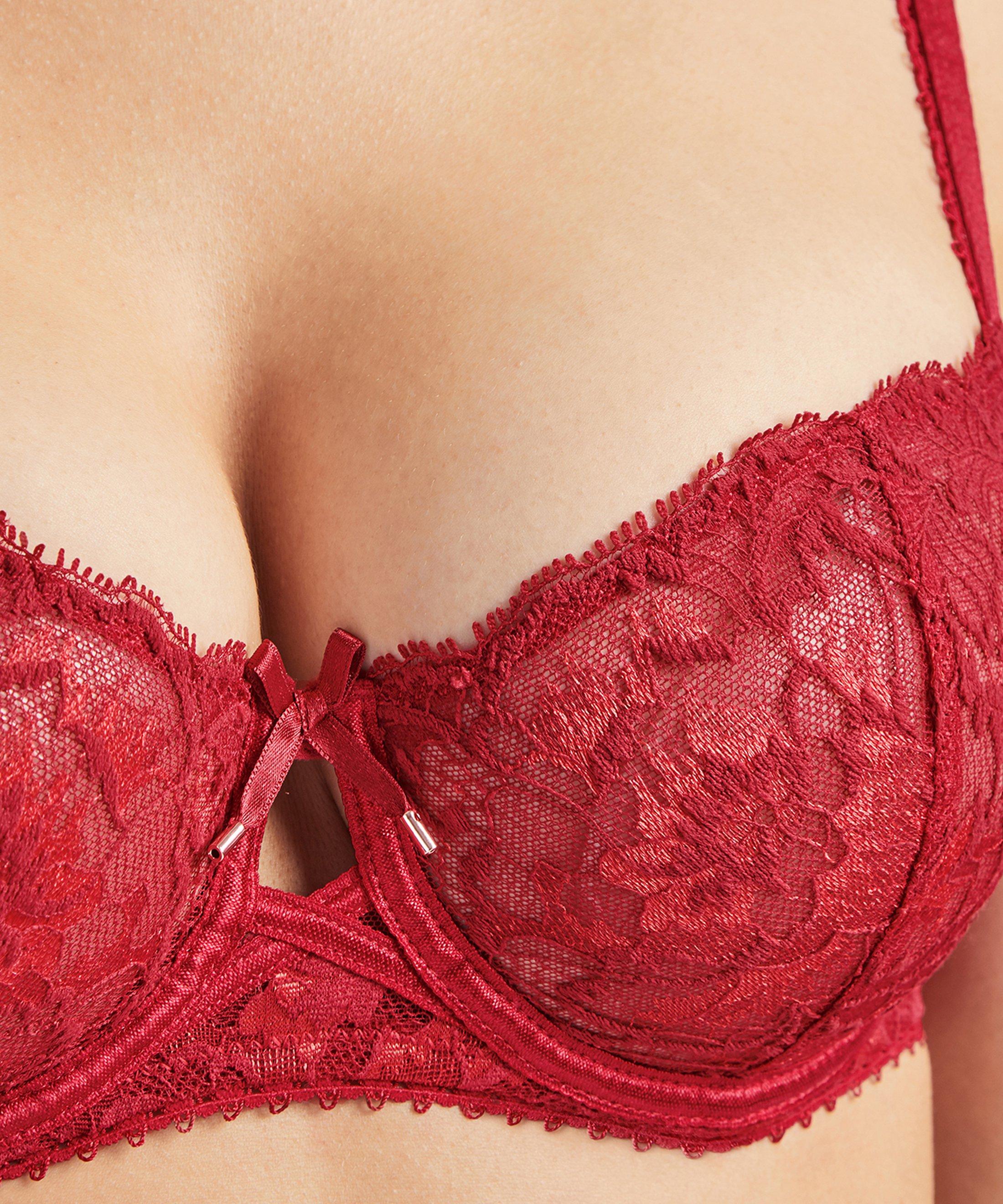 AUBE AMOUREUSE Soutien-gorge corbeille Rouge Amour | Aubade