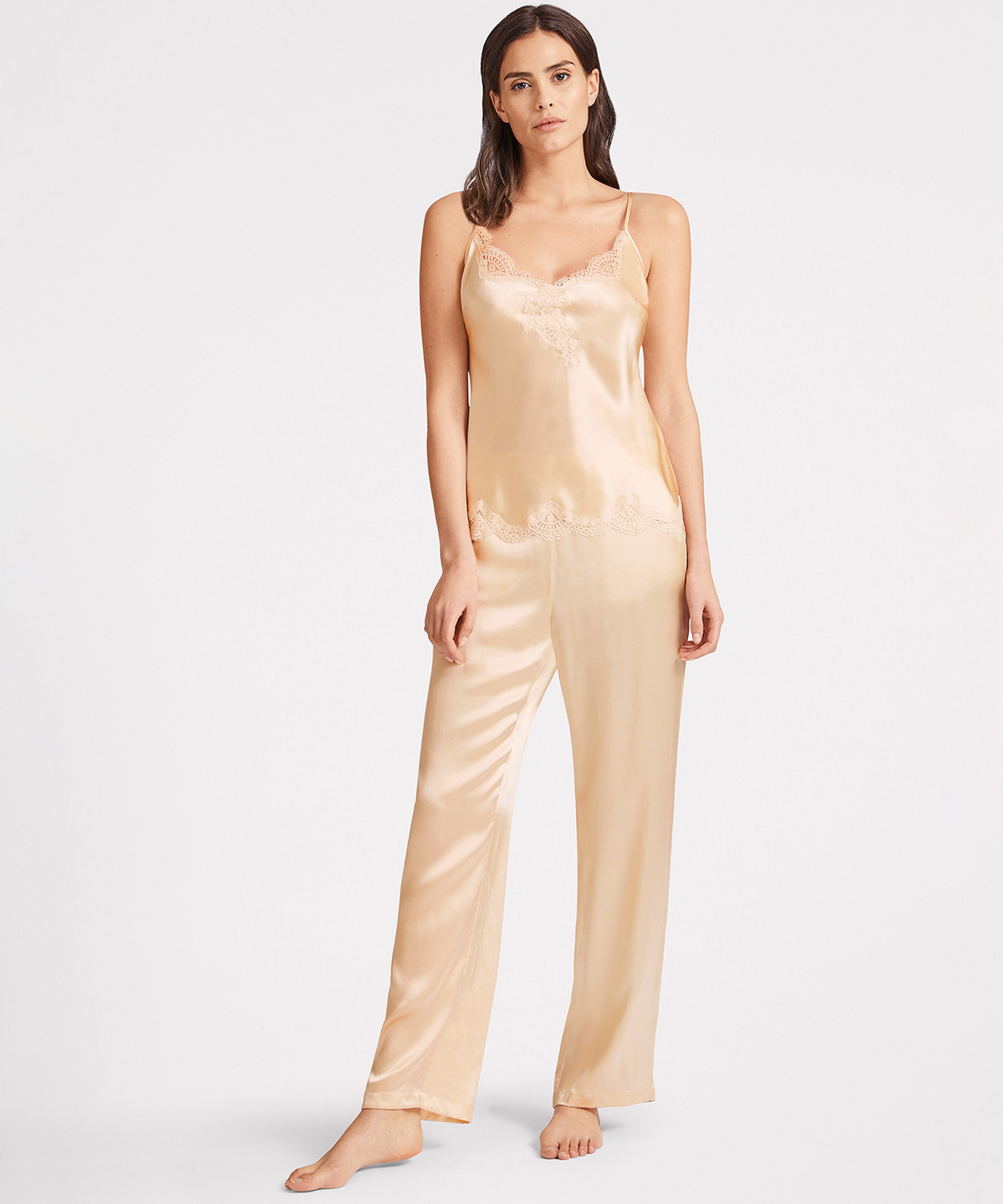 TOI MON AMOUR Silk Pants Pearly white Blond | Aubade