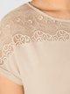 TRIUMPH Lounge-Me Amourette Kurzarm-Nachthemd mit Spitze, Länge 95cm