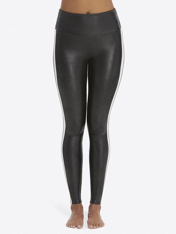 SPANX Leggings Shaping-Leggings in Leder-Optik