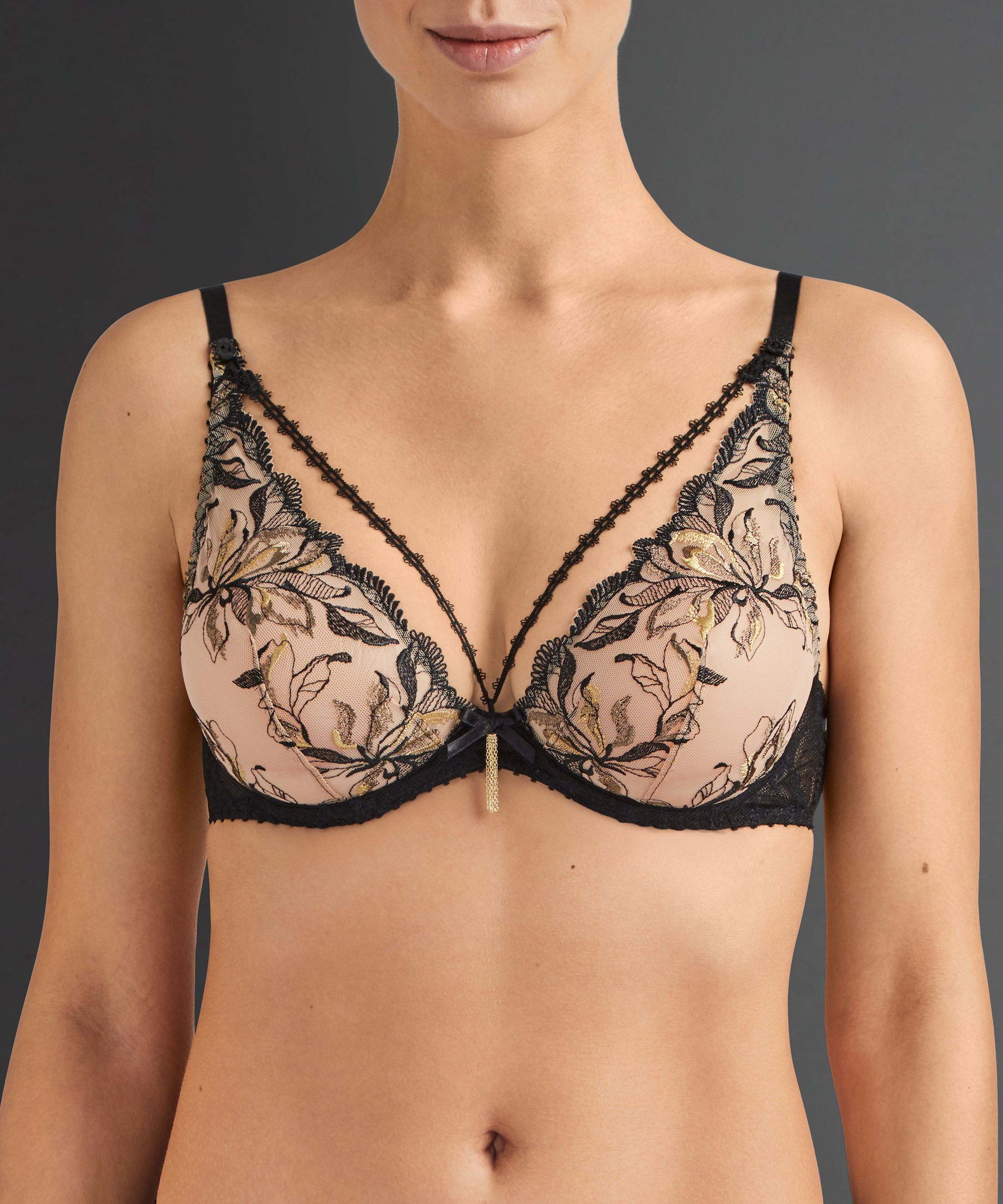 ENCRE DE CHINE Triangel-Push-Up-BH Bronze-Ombre | Aubade