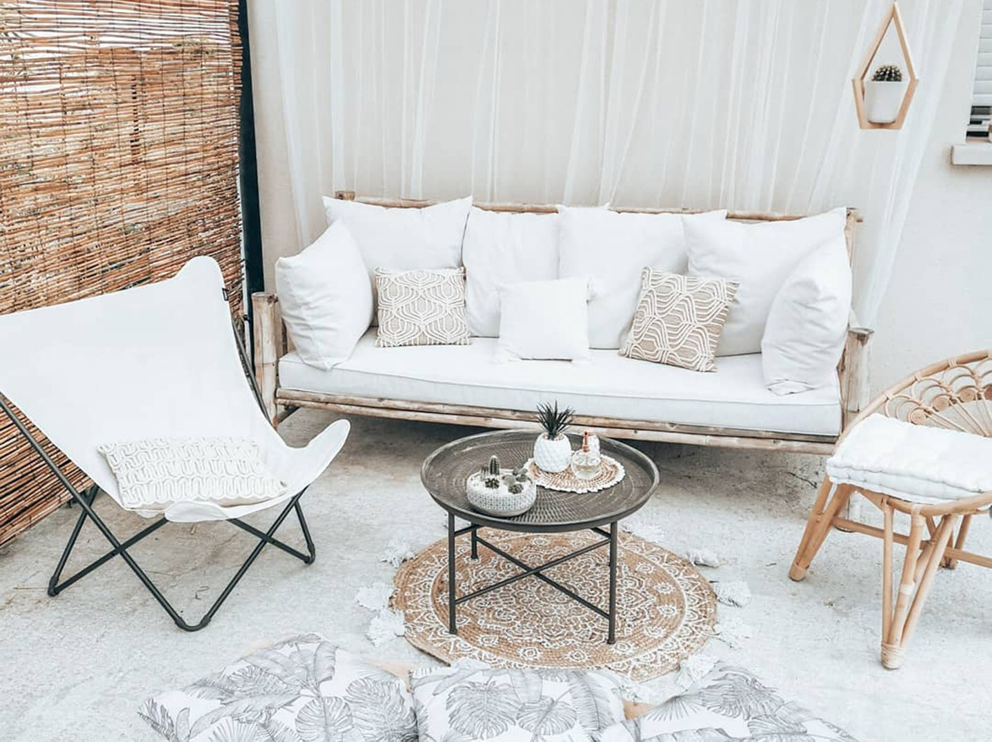 Our decor ideas for a small patio