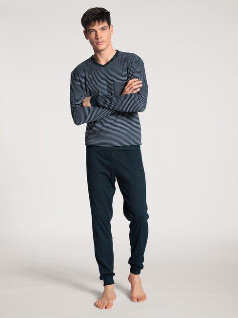 CALIDA Relax Streamline Basic Bündchen-Pyjama