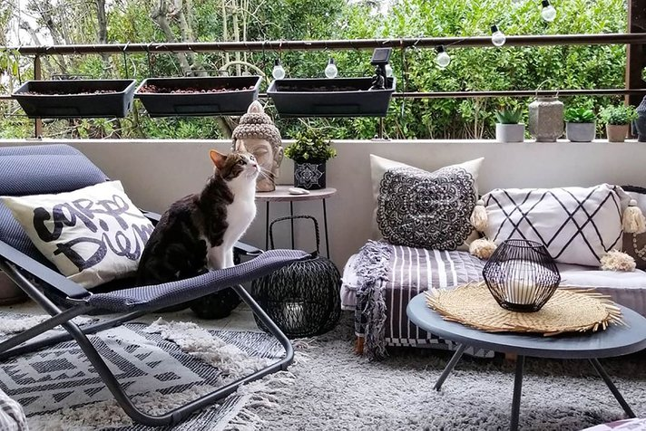 The ideal furniture for a cocooning balcony