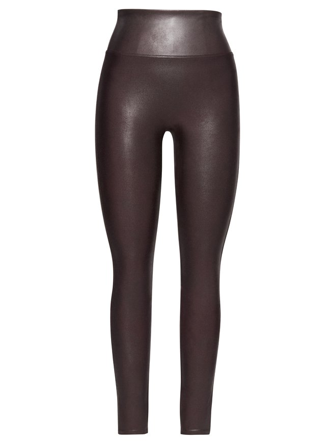 SPANX Structured Leggings Shaping-Leggings in Leder-Optik