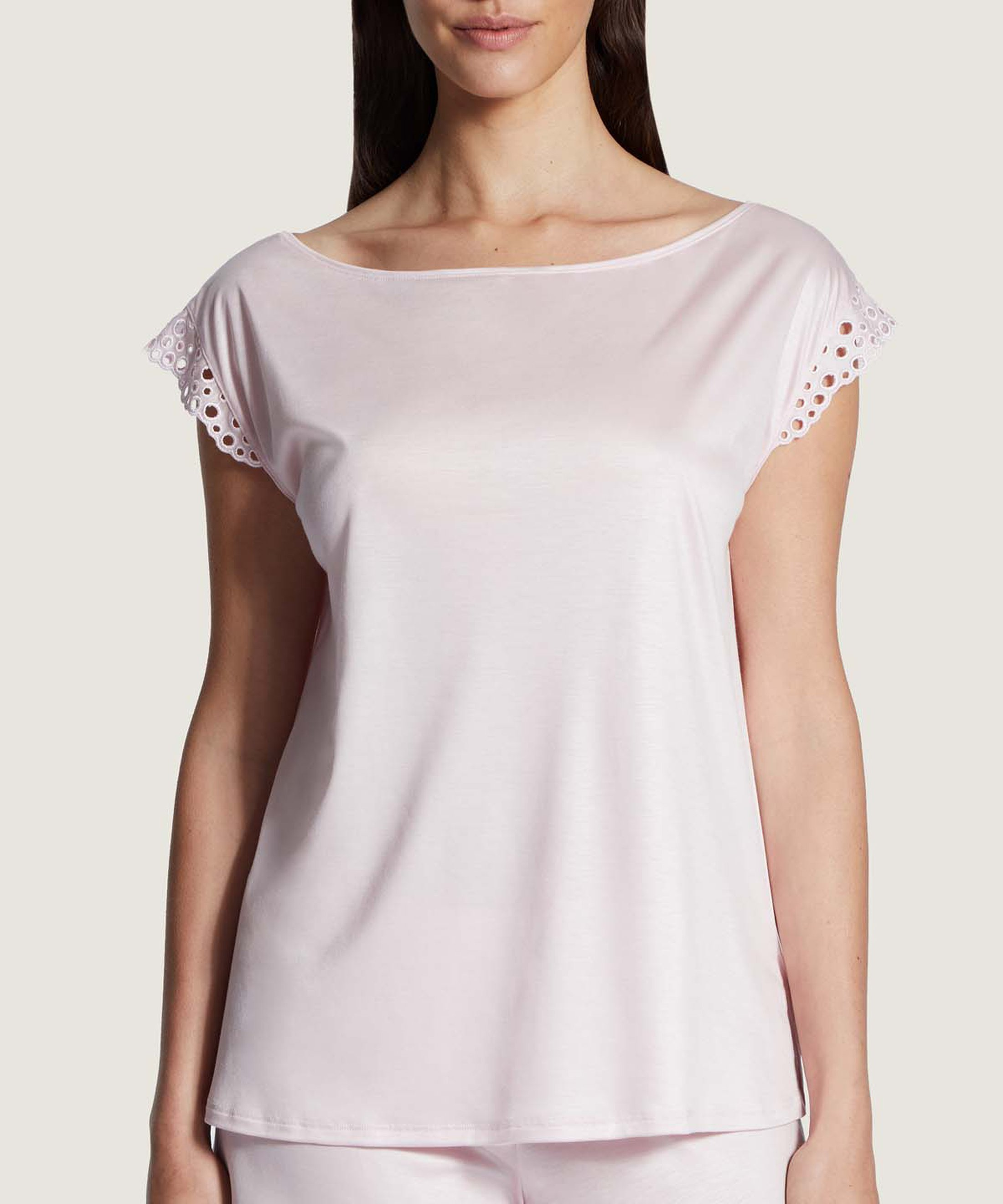 BULLE DE DOUCEUR Tencel sleeves top Light Pink | Aubade