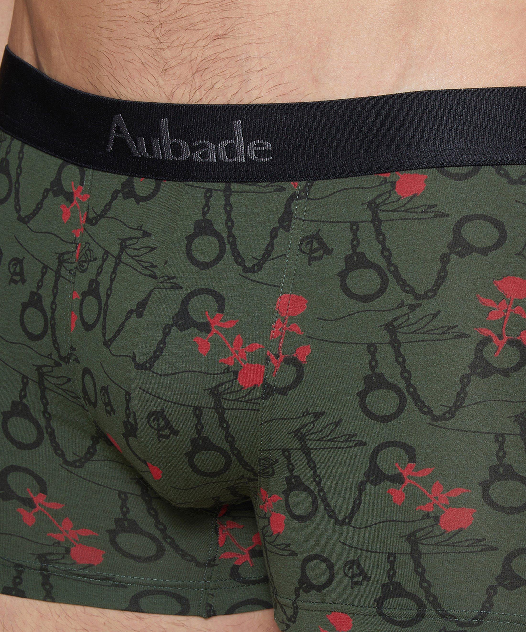 AUBADE HOMME Pack 2 boxers homme imprimé/uni Handcuffs Kaki + Noir | Aubade