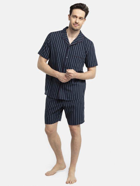 SEIDENSTICKER Striped Kurz-Pyjama, durchgeknöpft