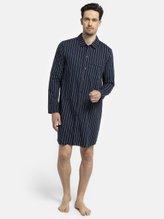 SEIDENSTICKER Striped Nachthemd, durchgeknöpft