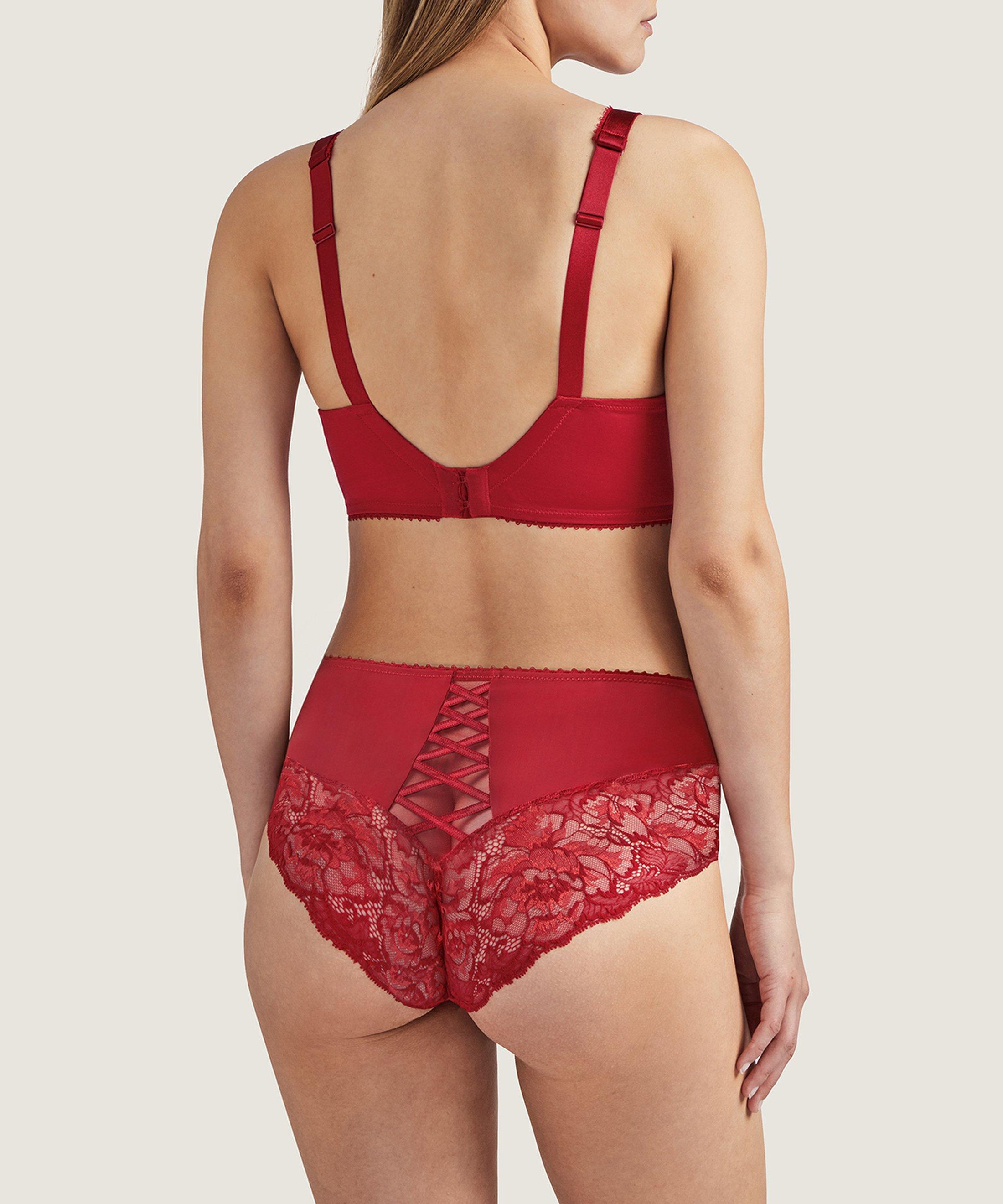 AUBE AMOUREUSE Soutien-gorge triangle avec armatures confort Rouge Amour | Aubade