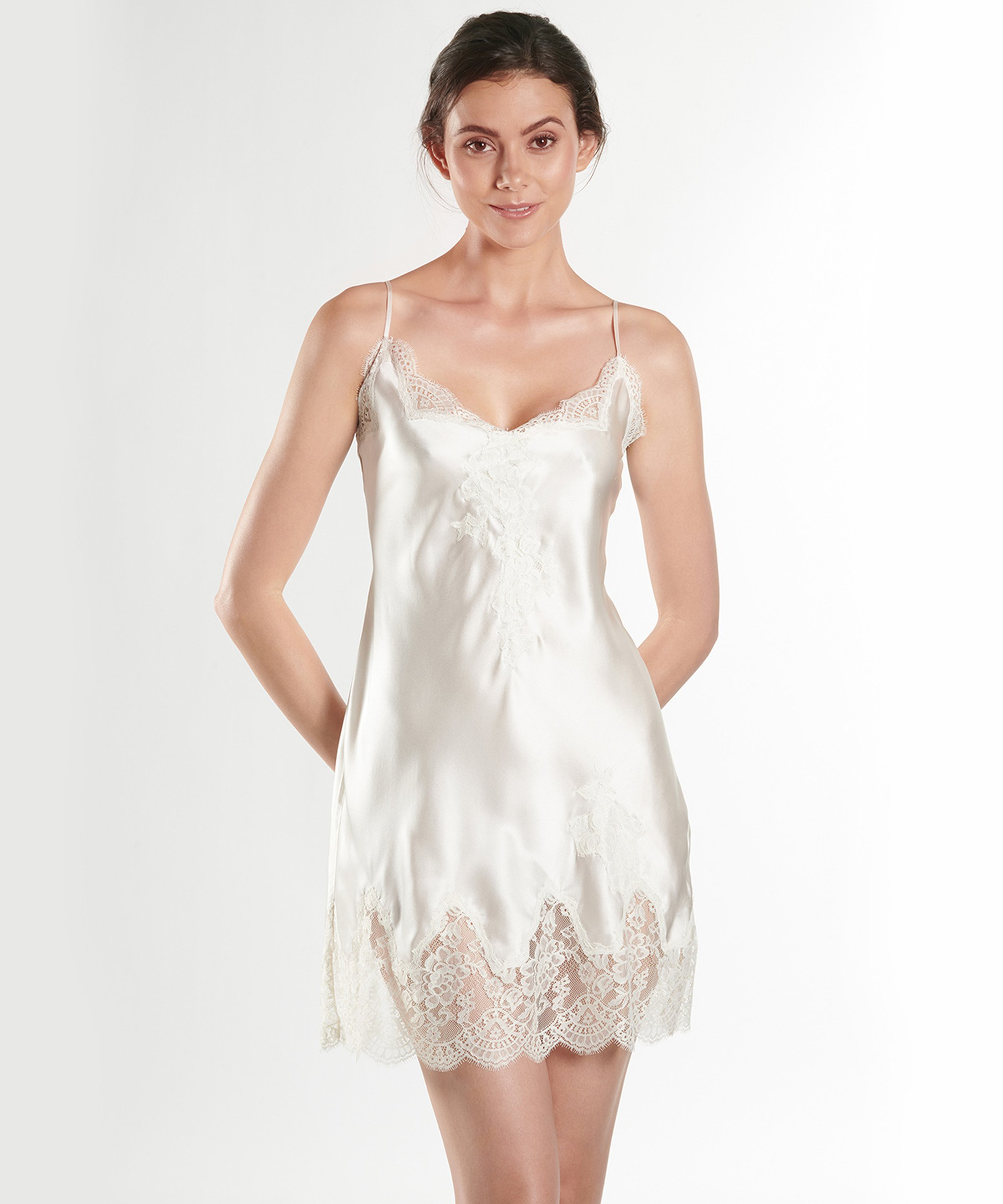 SOIE D'AMOUR Silk nightie Nacre | Aubade