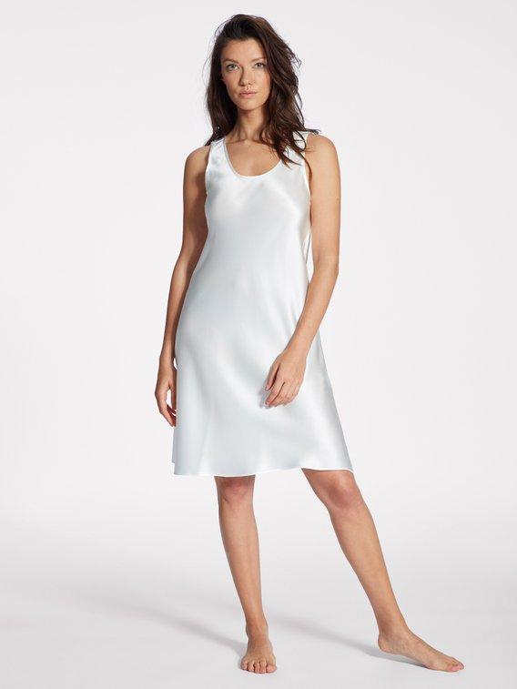 EVA B.BITZER Silk Satin Seiden-Nachtkleid, Länge 94cm