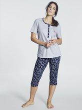 RINGELLA Women Kurz-Pyjama mit Knopfleiste