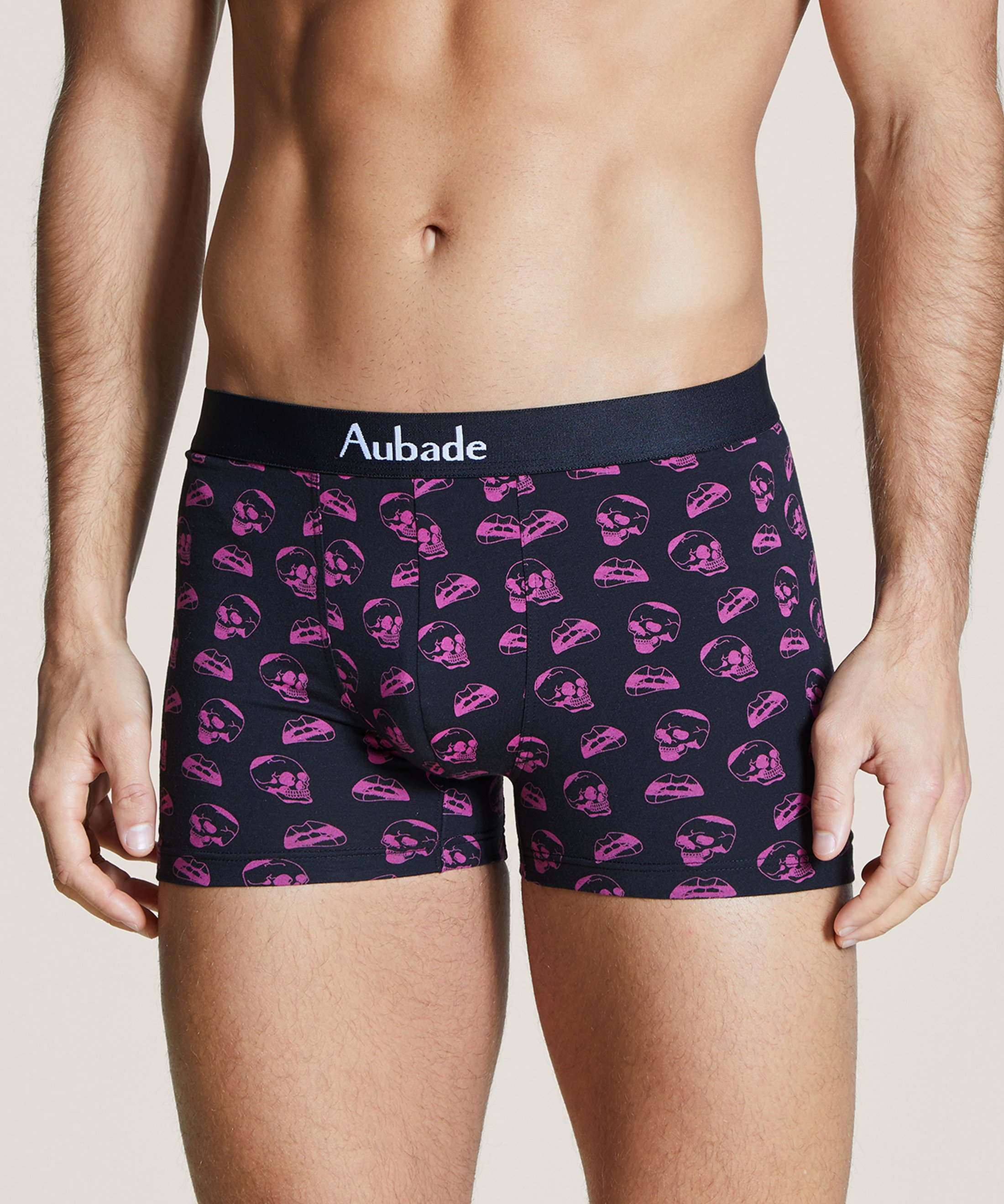 AUBADE HOMME Two boxers pack Neon Skull Black and Plain Grey | Aubade