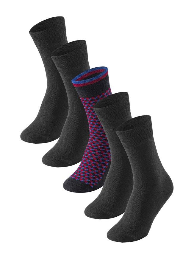 SCHIESSER Cotton Fit Socken, 5er Pack