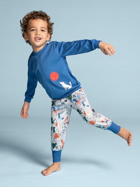 CALIDA Toddlers Wolf Kinder Bündchen-Pyjama