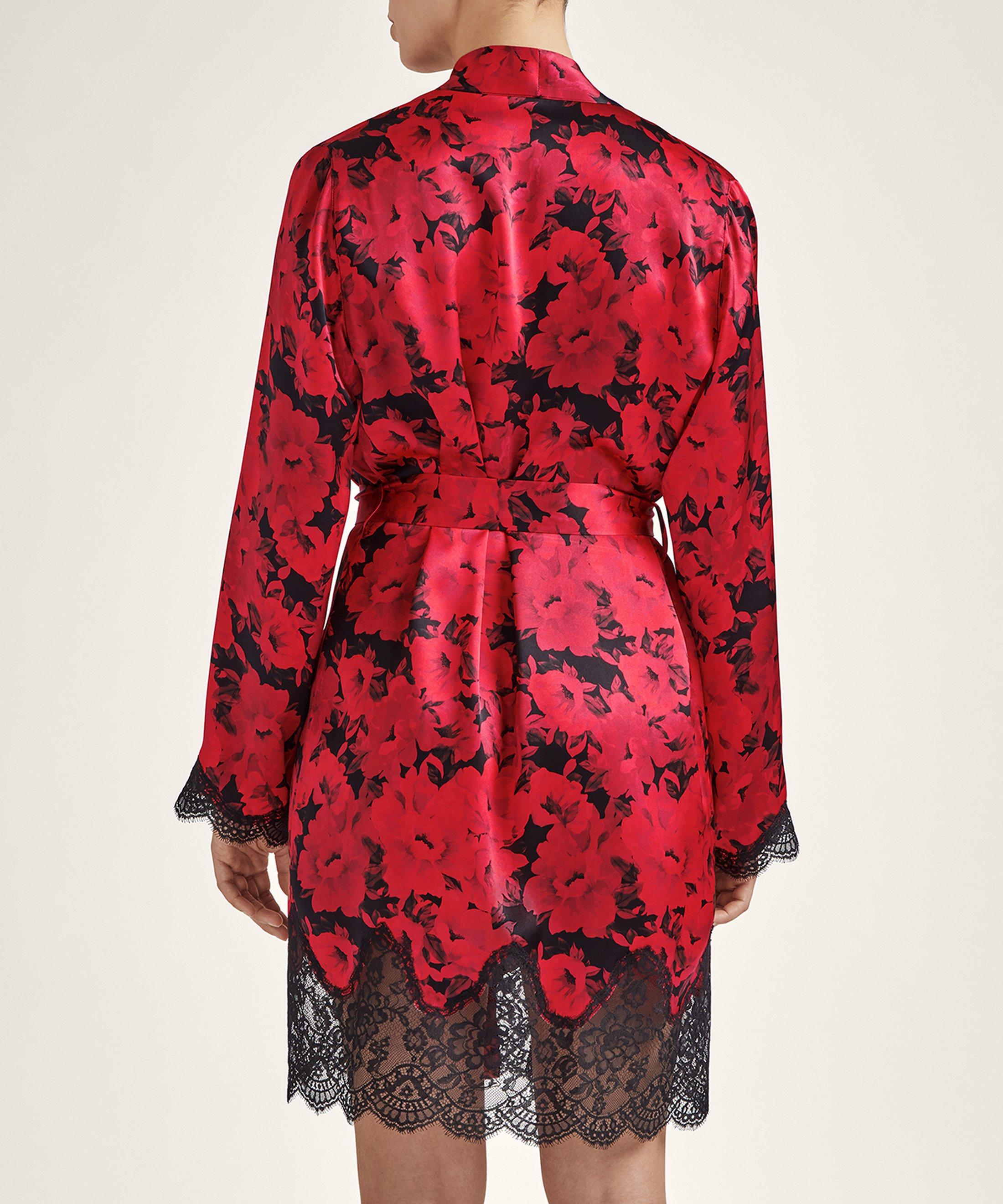 TOI MON AMOUR Silk kimono Opéra Red | Aubade