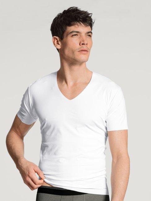 CALIDA Fresh Cotton V-Shirt mit Clean-Cut