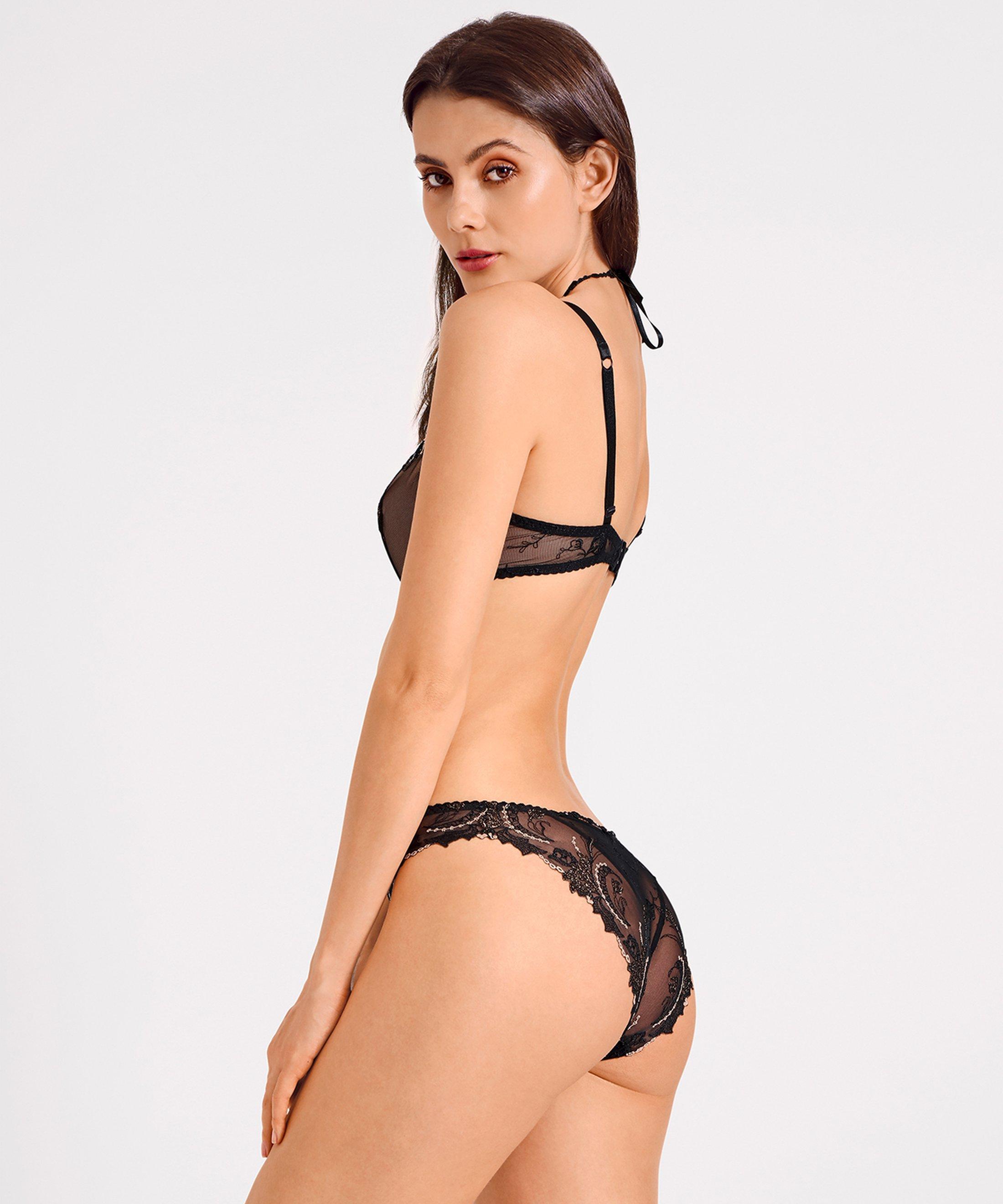 AMOUR PRÉCIEUX Culotte Italienne Diamant noir | Aubade