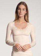 CALIDA Richesse Lace Langarm-Shirt aus Wolle & Seide