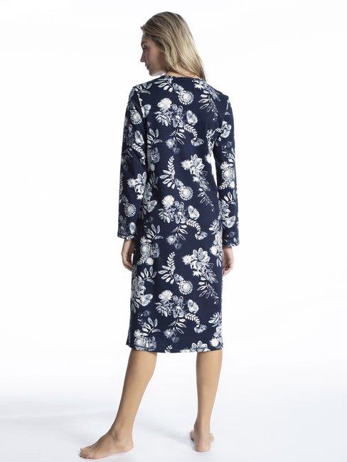 CALIDA Soft Flowers Langarm Nightshirt, Länge 110cm