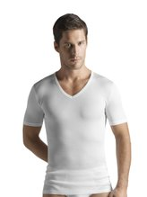 HANRO Cotton Pure Shirt mit V-Ausschnitt