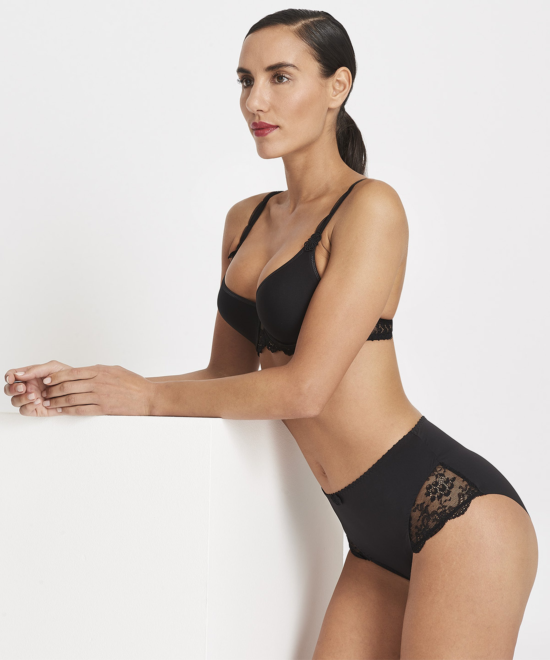 AUBADE À L'AMOUR High-waist Brief Black | Aubade