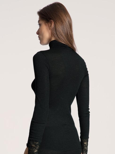 CALIDA Silky Wool Glam T-shirt à manches longues col roulé