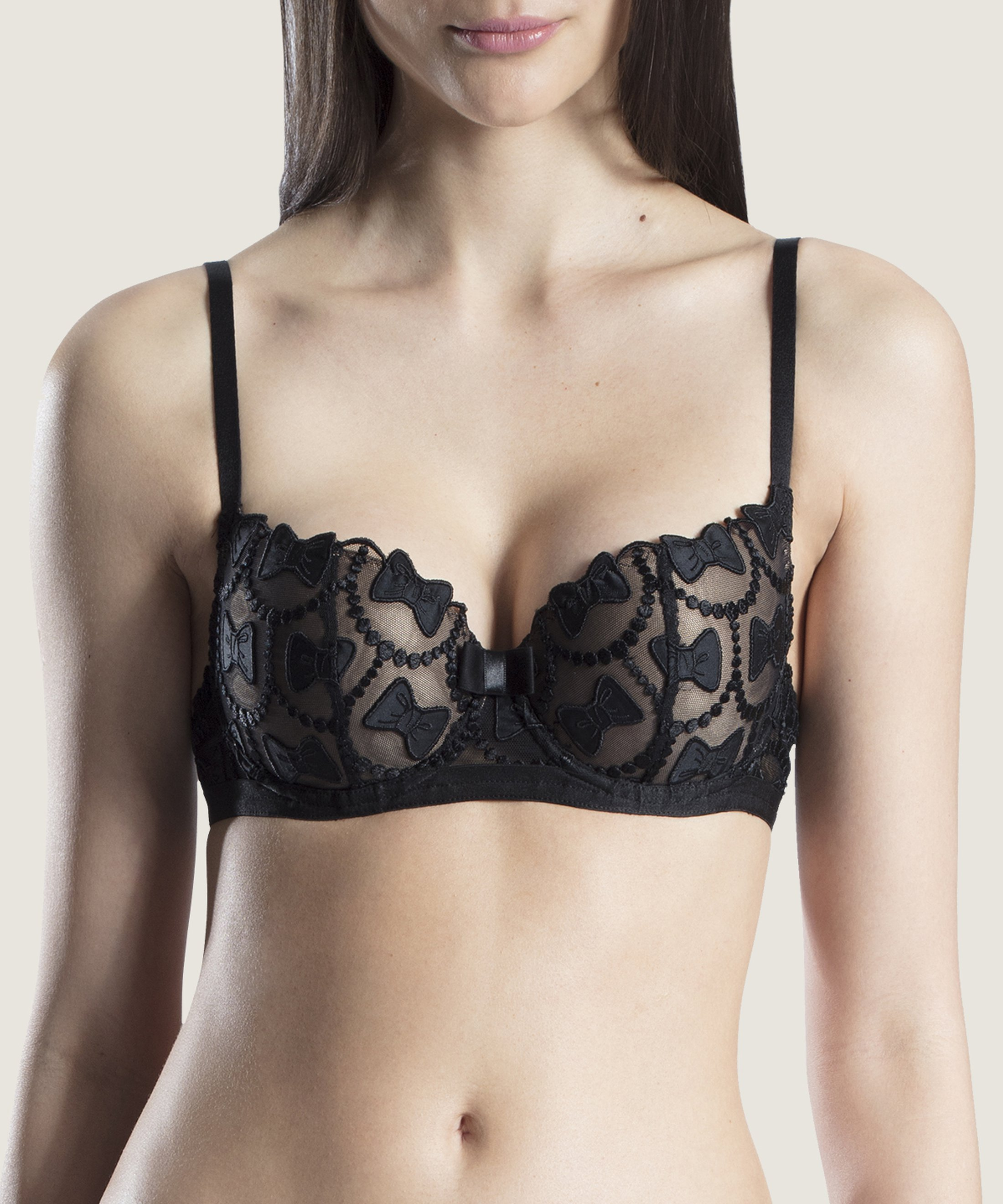 THE BOW COLLECTION Moulded Half-Cup Bra Soir | Aubade