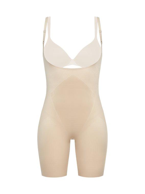 SPANX Thinstincts 2.0 Open-Bust Mid-Thigh Bodysuit