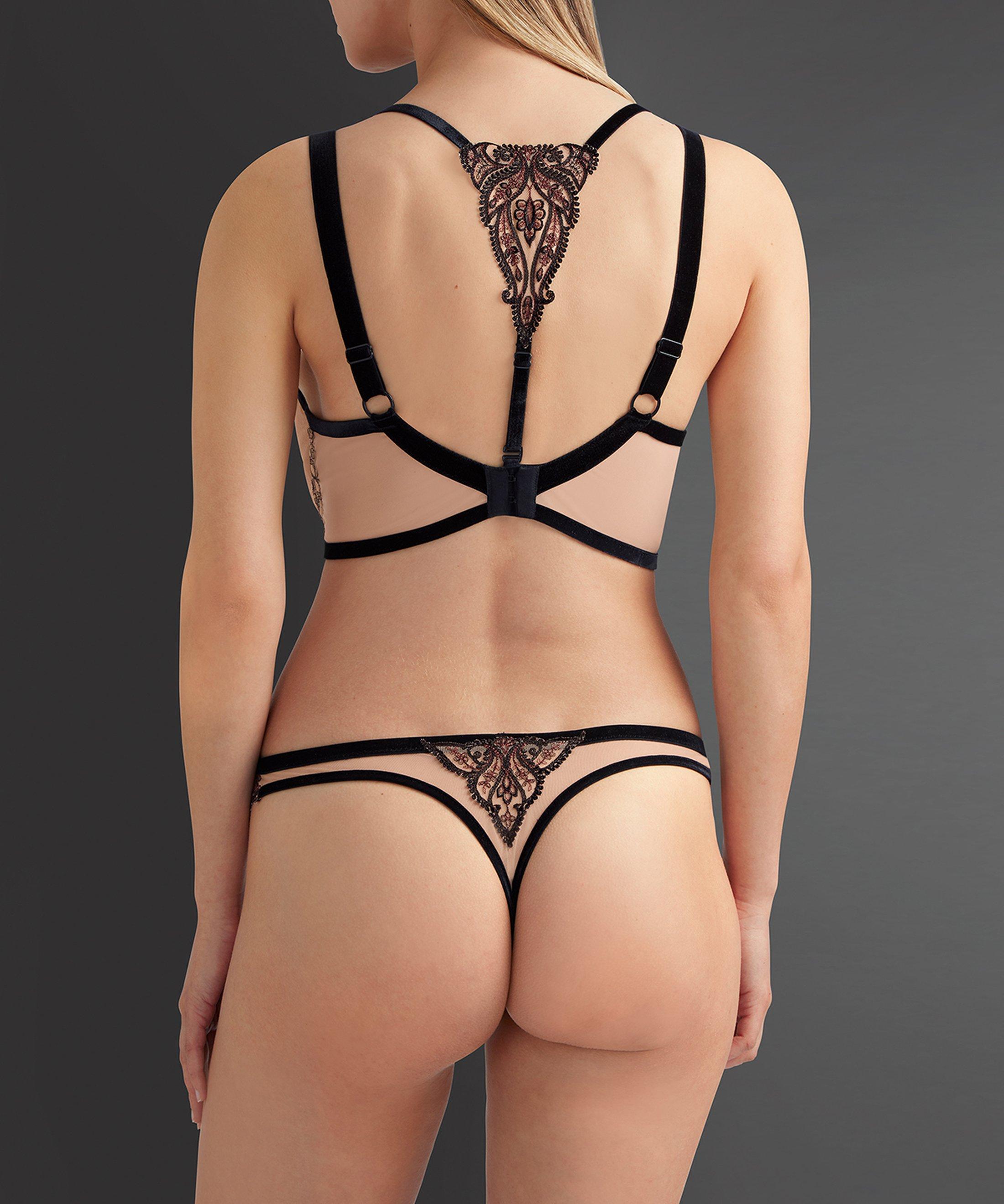 COEURS ENLACÉS Comfort triangle plunge bra Serenade Black | Aubade