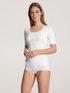 CALIDA Natural Luxe Kurzarm-Shirt, V-Neck