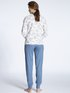 CALIDA Cosy Jersey Fun Pyjama avec bords élastiqués