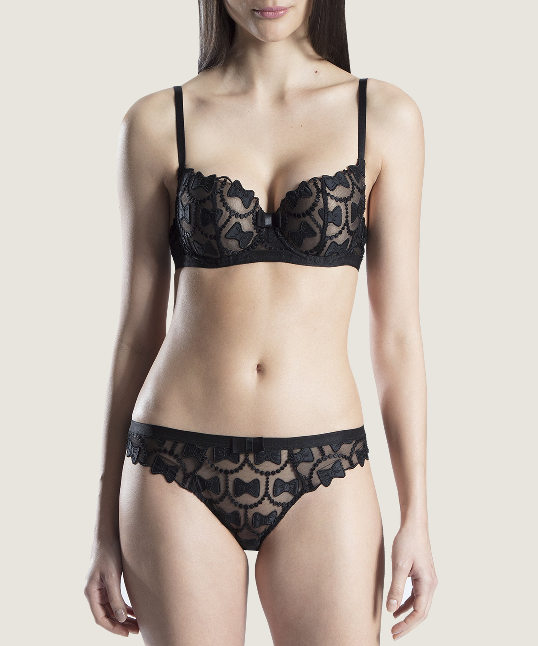 THE BOW COLLECTION Moulded Half-Cup Bra Soir   Aubade