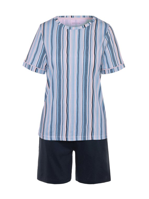 SEIDENSTICKER Modern Stripes Kurz-Pyjama