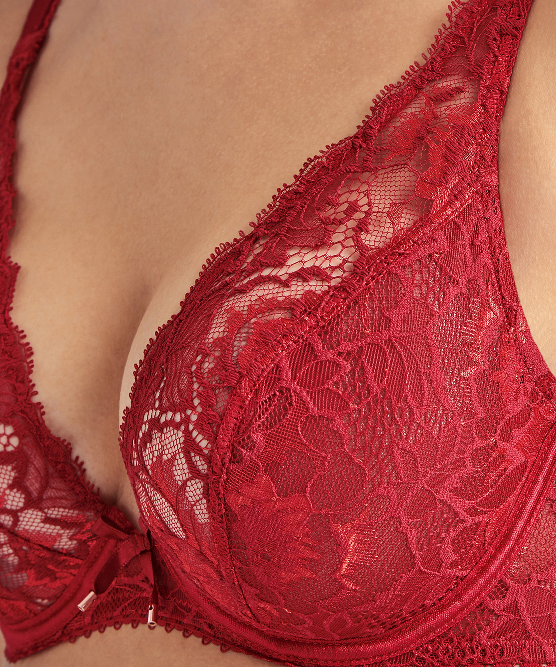AUBE AMOUREUSE Triangel-Push-Up-BH Amour Rot | Aubade