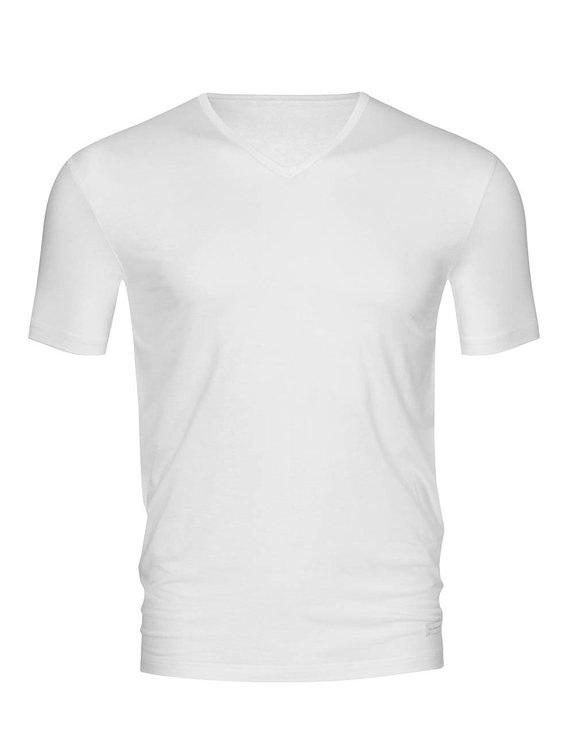 MEY Dry Cotton T-Shirt mit V-Neck