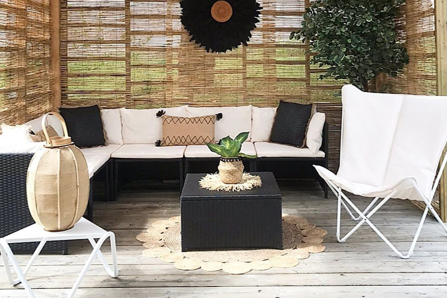 How to set up a covered patio ?