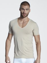 MEY Dry Cotton Functional Atmungsaktives Business Shirt mit V-Neck