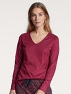 CALIDA Favourites Moments Langarm-Shirt, V-Neck