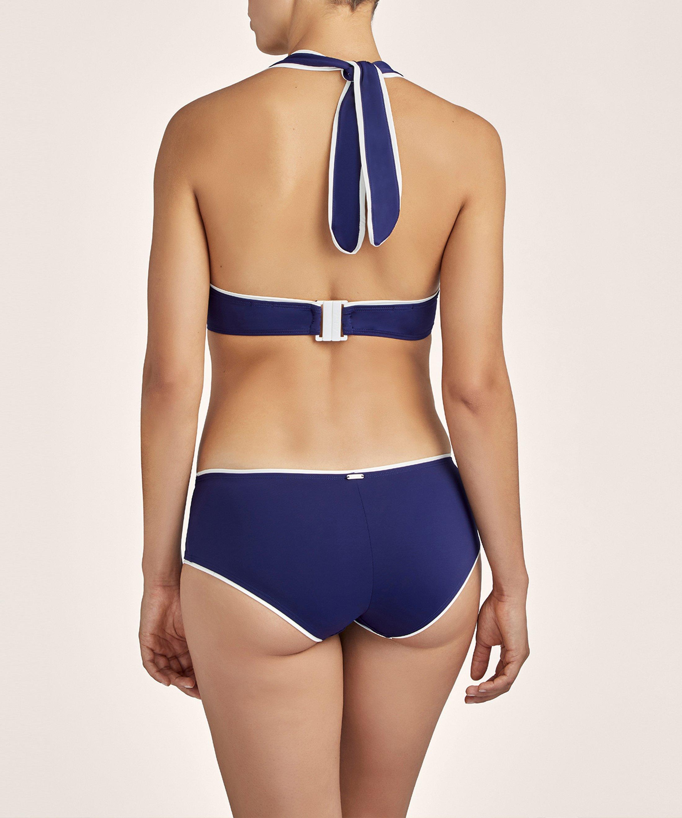 LA BAIE DES VAGUES Haut de maillot de bain balconnet Encre Bleue | Aubade